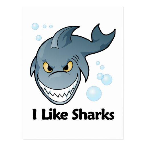 Tengo gusto de tiburones postales