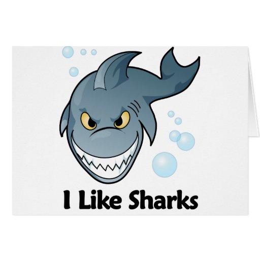 Tengo gusto de tiburones tarjeta de felicitación