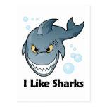 Tengo gusto de tiburones tarjetas postales