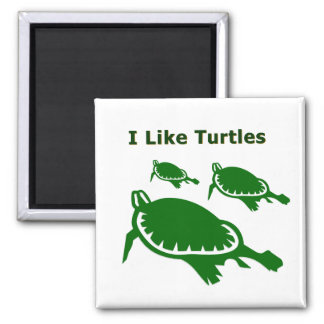 Tengo gusto de tortugas imán cuadrado