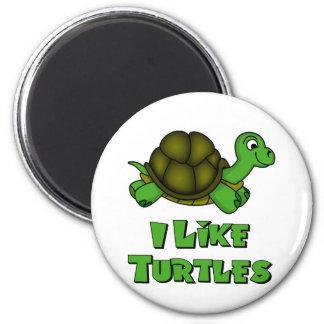Tengo gusto de tortugas imán redondo 5 cm