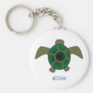 Tengo gusto de tortugas llavero redondo tipo pin