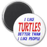 Tengo gusto de tortugas mejores que tengo gusto de imán
