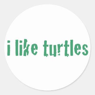 Tengo gusto de tortugas pegatina redonda