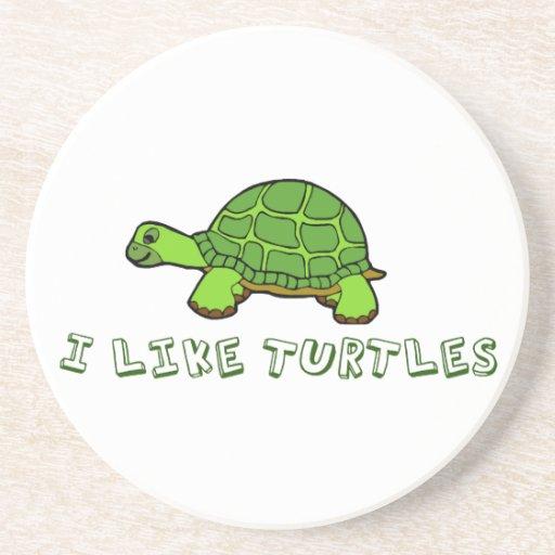 Tengo gusto de tortugas posavasos personalizados