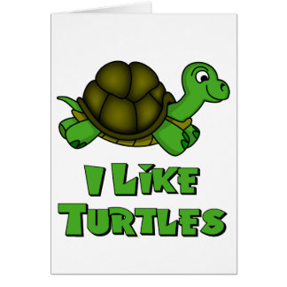 Tengo gusto de tortugas felicitación