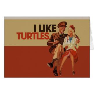 Tengo gusto de tortugas tarjetas
