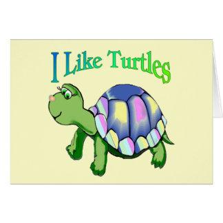 Tengo gusto de tortugas tarjetón