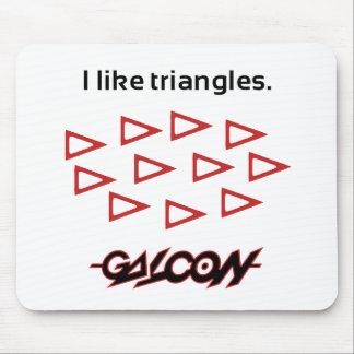 ¡Tengo gusto de triángulos! Mousepad