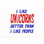 Tengo gusto de unicornios mejores que tengo gusto  tarjetas postales