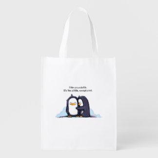 Tengo gusto de usted los pingüinos de un Lottle -  Bolsa Reutilizable