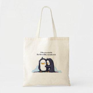 Tengo gusto de usted los pingüinos de un Lottle - Bolsa Tela Barata