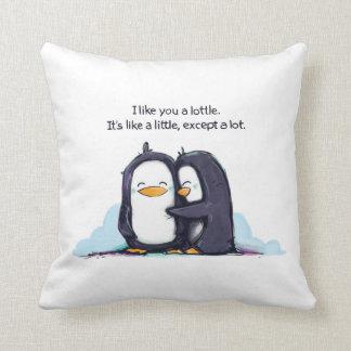 ¡Tengo gusto de usted los pingüinos de un Lottle - Cojín