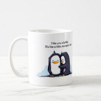 Tengo gusto de usted los pingüinos de un Lottle - Taza Básica Blanca