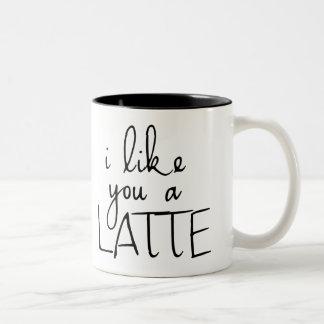 Tengo gusto de usted un Latte Taza De Dos Tonos