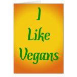Tengo gusto de veganos… tarjeta