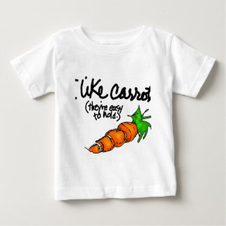 Tengo gusto de zanahorias playera de bebé