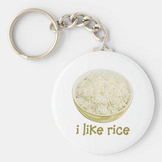Tengo gusto del arroz llavero redondo tipo pin