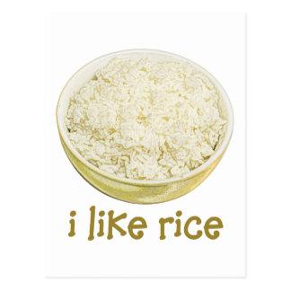 Tengo gusto del arroz postal