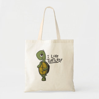 Tengo gusto del bolso de las tortugas bolsa tela barata