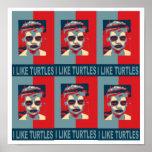 Tengo gusto del cartel de las tortugas impresiones