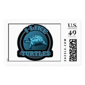 Tengo gusto del círculo del azul de las tortugas sellos