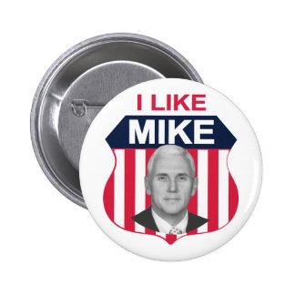 Tengo gusto del escudo de Mike Pin Redondo De 2 Pulgadas