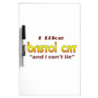 Tengo gusto del gato de Bristol Pizarra Blanca