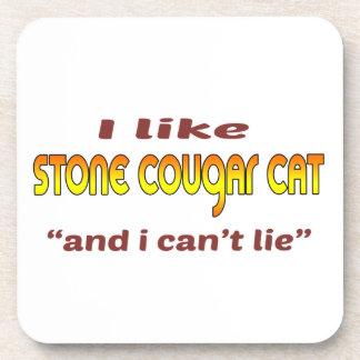 Tengo gusto del gato de piedra del puma posavaso