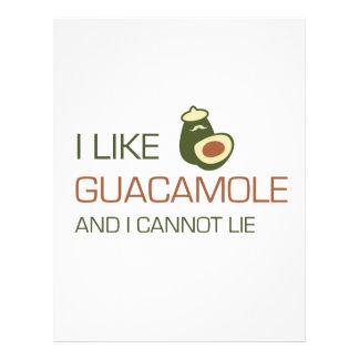 Tengo gusto del guacamole y no puedo mentir plantilla de membrete