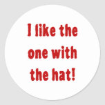 ¡Tengo gusto del que está con el gorra! Etiquetas Redondas