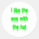 Tengo gusto del que está con el gorra etiqueta redonda