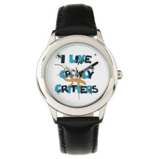 Tengo gusto del reloj Crawly del acero inoxidable