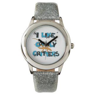 Tengo gusto del reloj Crawly del brillo de los