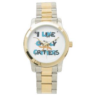 Tengo gusto del reloj Crawly del tono de los