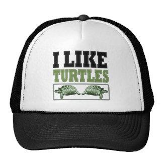 Tengo gusto del texto grande de las tortugas gorro de camionero