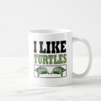 Tengo gusto del texto grande de las tortugas taza clásica