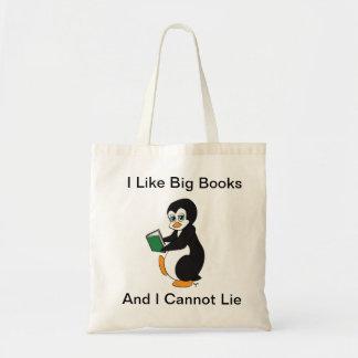Tengo gusto del tote grande de los libros bolsa lienzo
