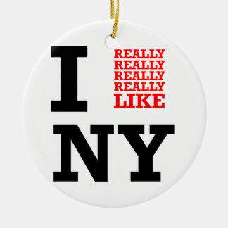 Tengo gusto realmente realmente realmente de NY Adorno Redondo De Cerámica