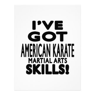 Tengo habilidades americanas del arte marcial del plantilla de membrete
