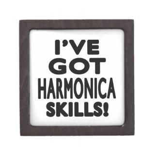 Tengo habilidades de la armónica cajas de joyas de calidad