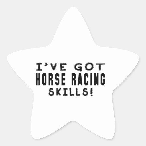 Tengo habilidades de la carrera de caballos pegatinas forma de estrellaes