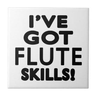 Tengo habilidades de la flauta azulejos ceramicos