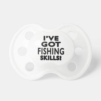 Tengo habilidades de la pesca chupetes para bebés