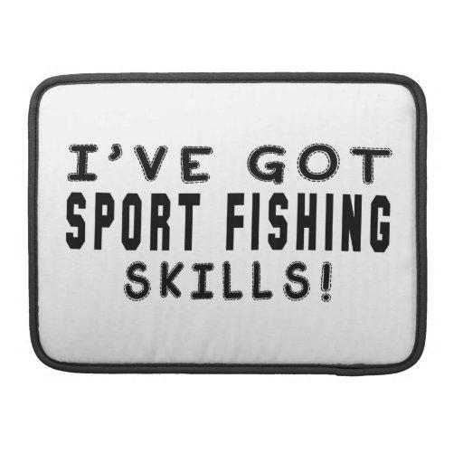 Tengo habilidades de la pesca deportiva fundas para macbooks