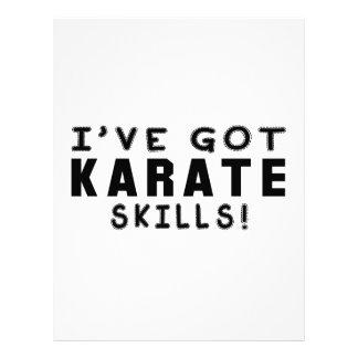 Tengo habilidades de los artes marciales del karat membrete personalizado