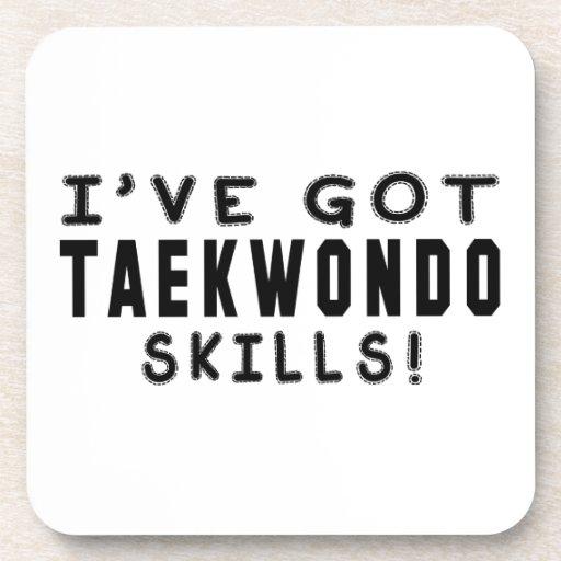 Tengo habilidades de los artes marciales del Taekw Posavasos