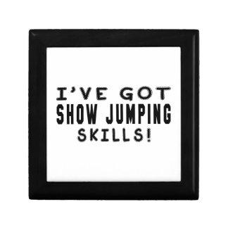 Tengo habilidades de salto de la demostración cajas de joyas