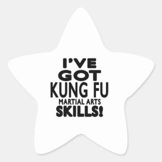 Tengo habilidades del arte marcial de Kung Fu Colcomanias Forma De Estrellaes