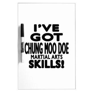 Tengo habilidades del arte marcial de la gama del pizarras blancas de calidad